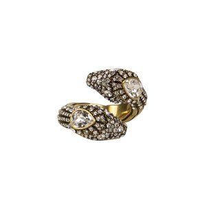 GUCCI Snake With Crystals Ring 7.5 US M Gucci